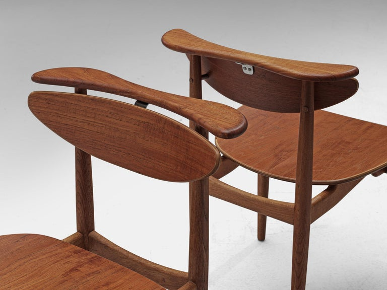 Oak Finn Juhl for Bovirke Set of Four 'Reading Chairs' For Sale