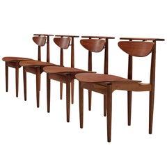 Finn Juhl for Bovirke Set of Four 'Reading Chairs'
