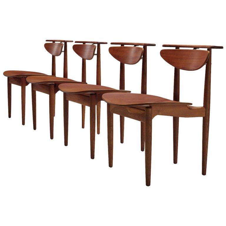 Finn Juhl for Bovirke Set of Four 'Reading Chairs' For Sale