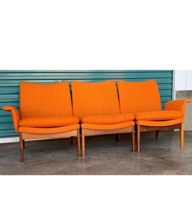 Scandinavian Modern Finn Juhl for Cado Modular Sofa Lounge Armchairs 1950s Signed, Danish Modern For Sale