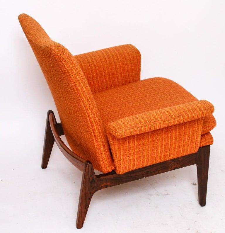 Textile Finn Juhl for Cado Modular Sofa Lounge Armchairs 1950s Signed, Danish Modern For Sale