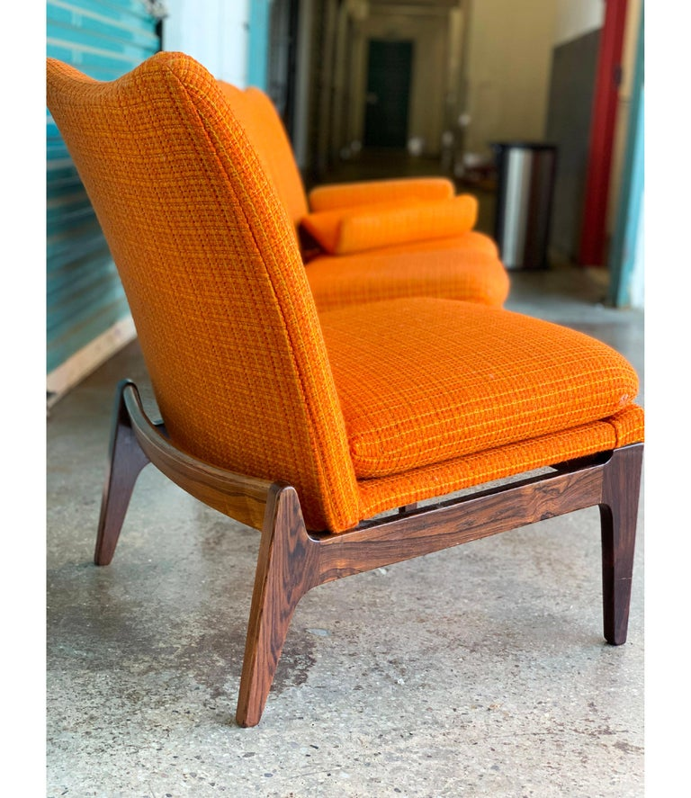 Finn Juhl for Cado Modular Sofa Lounge Armchairs 1950s Signed, Danish Modern In Good Condition For Sale In Brooklyn, NY