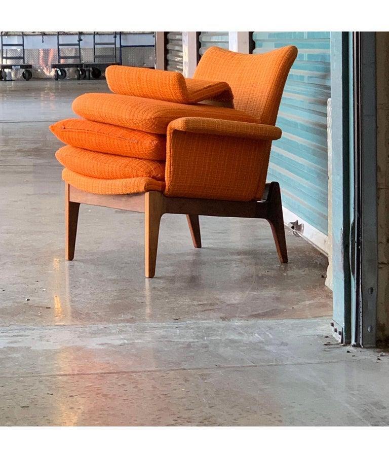 Finn Juhl for Cado Modular Sofa Lounge Armchairs 1950s Signed, Danish Modern For Sale 3