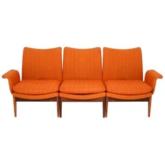 Finn Juhl for Cado Modular Sofa Lounge Armchair Set 1950s Danish Modern, Signed