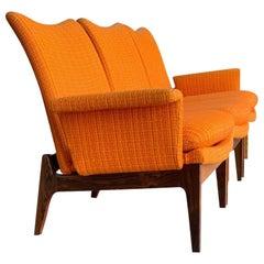 Finn Juhl for Cado Modular Sofa Lounge Armchairs 1950s, Danish Modern