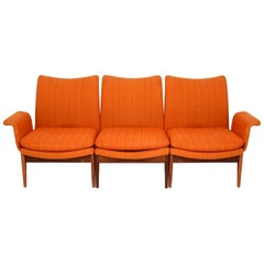 Finn Juhl for Cado Modular Sofa Lounge Armchairs 1950s, Danish Modern