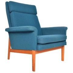 Finn Juhl for France and Son Teak High Back Lounge Chair
