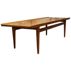 Finn Juhl for France and Sons Solid Teak Coffee Table