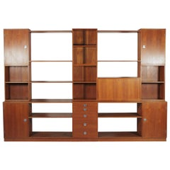 Finn Juhl For France & Son Cresco Modular Teak Wall Unit & Secretar, circa 1960