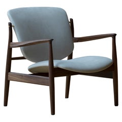 Finn Juhl France Chair in Wood and Beige Upholstery