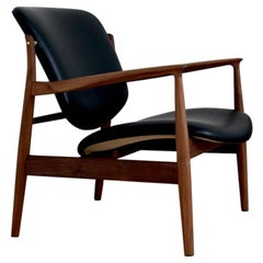 Finn Juhl France Chair in Wood and Leather