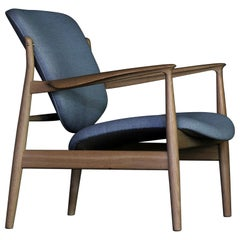 Finn Juhl France Chair in Wood and Upholstery