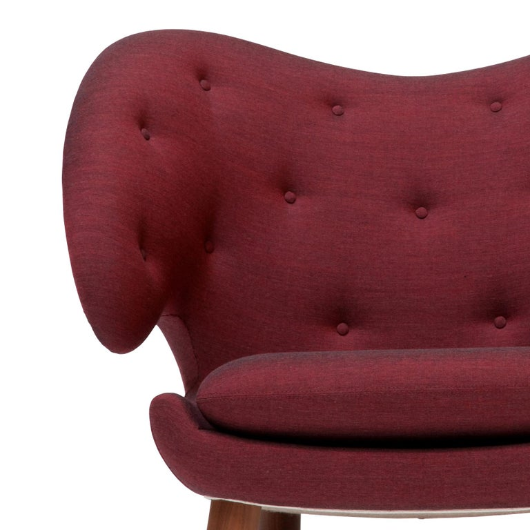 Modern Finn Juhl Garnet Pelican Chair Kvadrat Remix For Sale