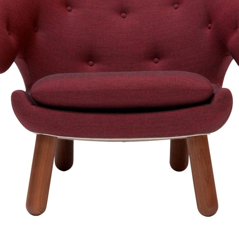 Danish Finn Juhl Garnet Pelican Chair Kvadrat Remix For Sale