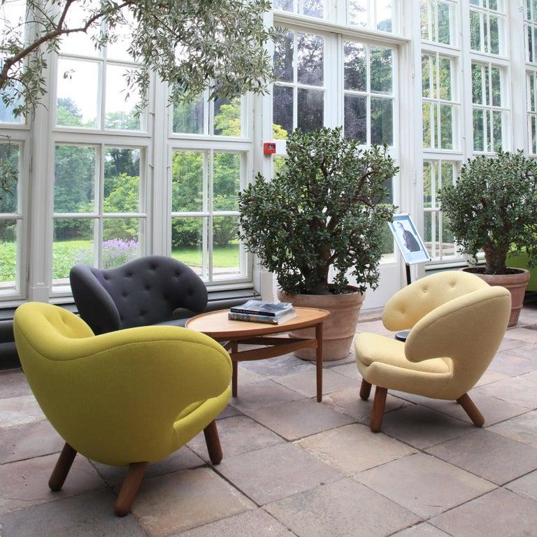Contemporary Finn Juhl Garnet Pelican Chair Kvadrat Remix For Sale