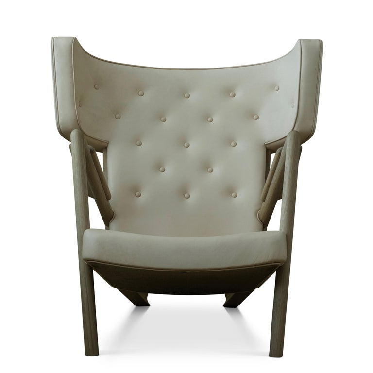 Finn Juhl Grasshopper Armchair in Wood and Leather For Sale 4