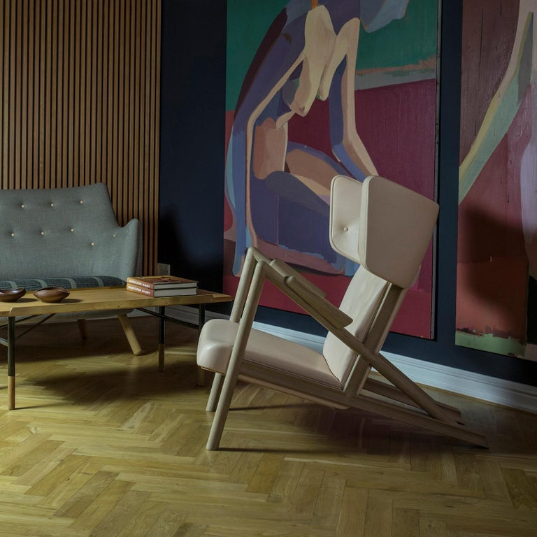 Finn Juhl Grasshopper Armchair in Wood and Leather For Sale 8