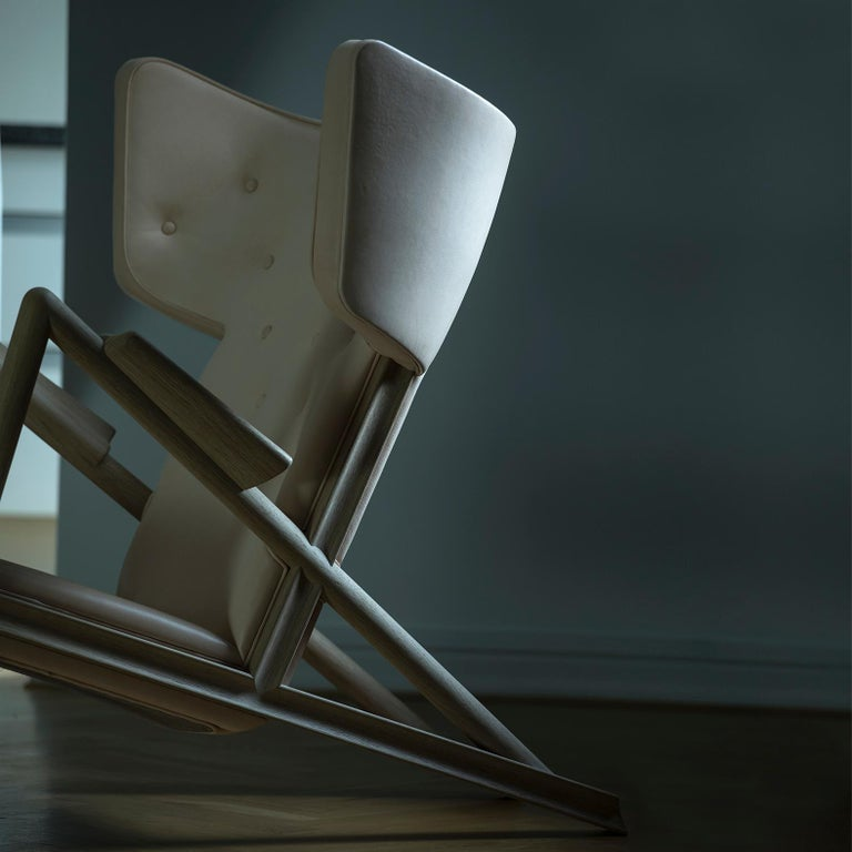 Finn Juhl Grasshopper Armchair in Wood and Leather For Sale 14
