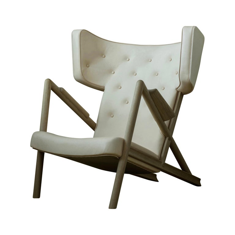 Finn Juhl Grasshopper Armchair in Wood and Leather For Sale 1