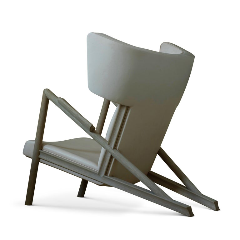 Finn Juhl Grasshopper Armchair in Wood and Leather For Sale 3