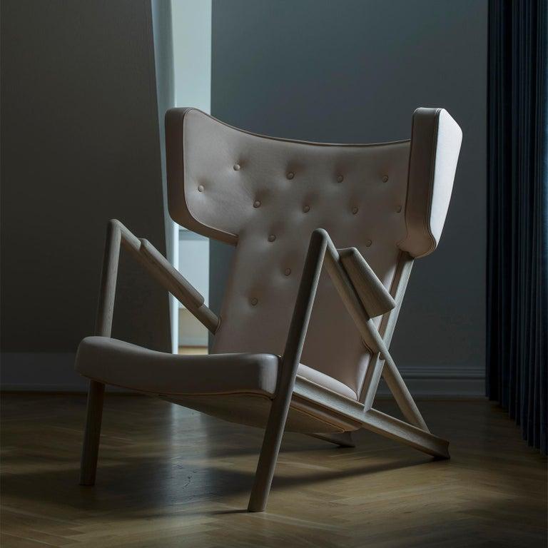 Finn Juhl Grasshopper Armchair, Wood and Leather For Sale 4