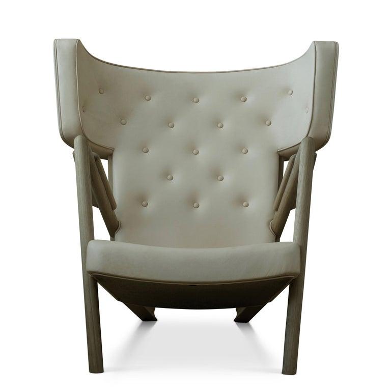 Danish Finn Juhl Grasshopper Armchair, Wood and Leather For Sale