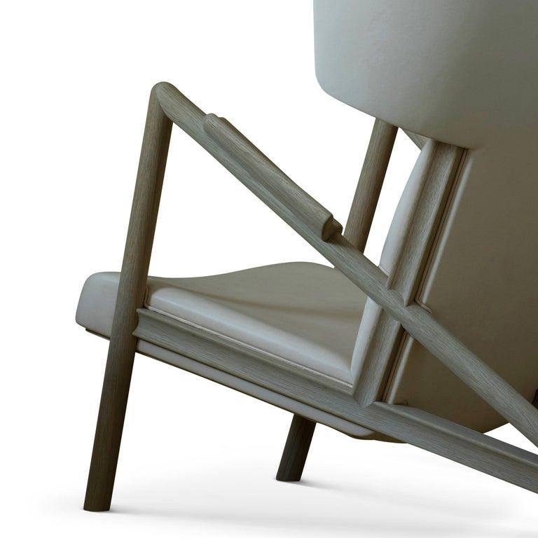 Finn Juhl Grasshopper Armchair, Wood and Leather For Sale 1
