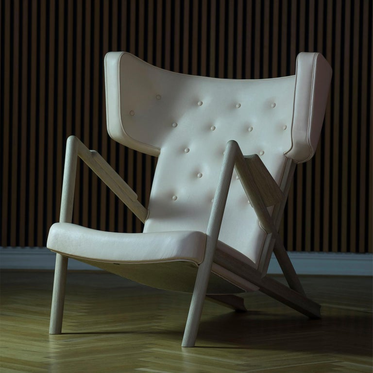 Finn Juhl Grasshopper Armchair, Wood and Leather For Sale 3