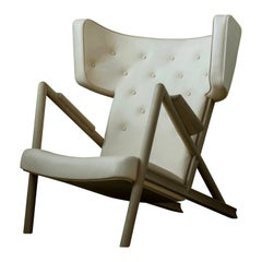 Finn Juhl Grasshopper Armchair Oak, Vegetal Nature Leather