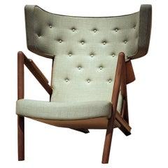 Finn Juhl Grasshopper Armchair Wood and Fabric