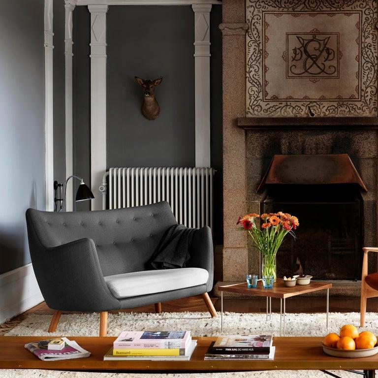 Finn Juhl Grey 46 Sofa Oak Sheepskin Sahara For Sale 4