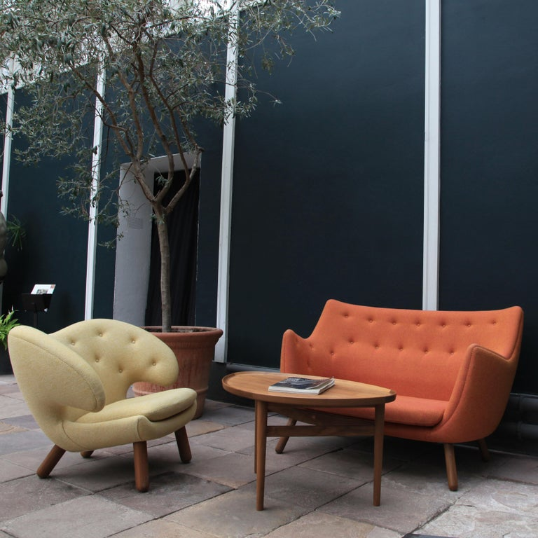 Finn Juhl Grey 46 Sofa Oak Sheepskin Sahara For Sale 5