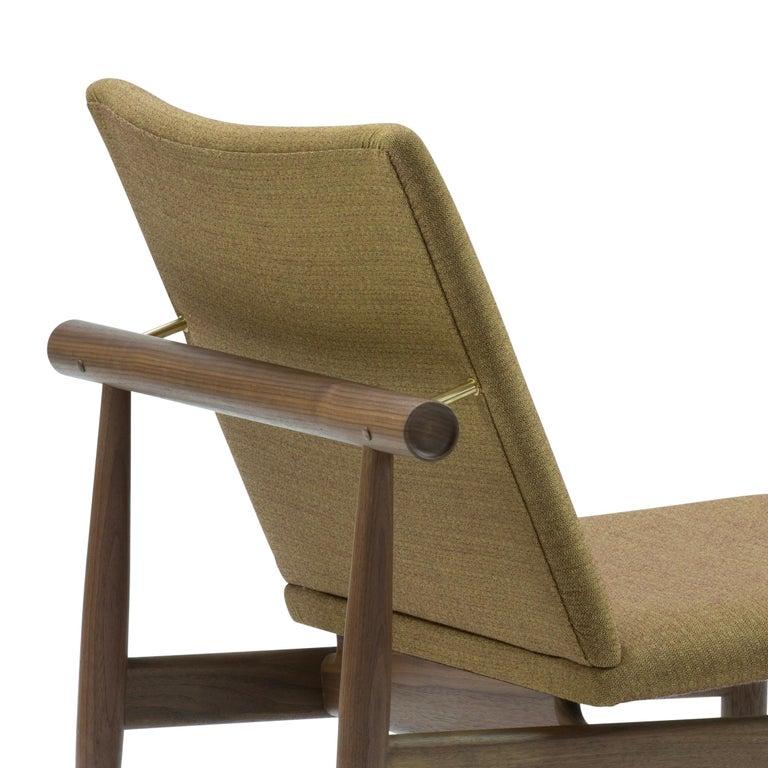 Fabric Finn Juhl Japan Series Chair Walnut, Kvadrat Foss, 1953 For Sale