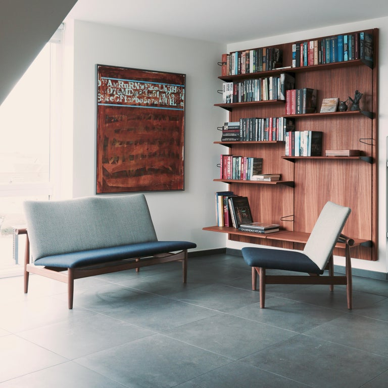 Finn Juhl Japan Series Chair Walnut Raf Simons Kvadrat For Sale 11