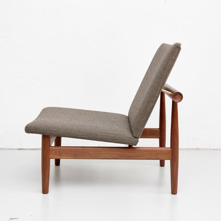 Mid-Century Modern Finn Juhl Japan Series Chair Walnut Raf Simons Kvadrat For Sale