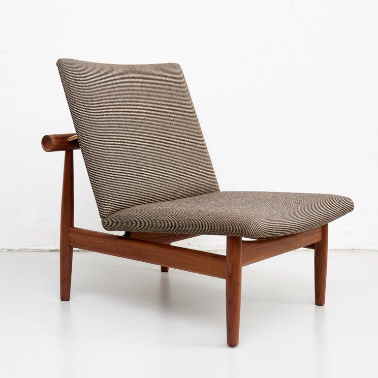 Contemporary Finn Juhl Japan Series Chair Walnut Raf Simons Kvadrat For Sale