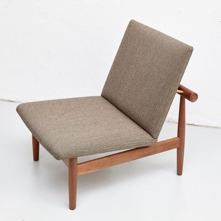 Fabric Finn Juhl Japan Series Chair Walnut Raf Simons Kvadrat For Sale