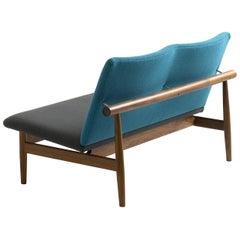 Finn Juhl Japan Series Two-Seaters Sofa, Wood and Fabric