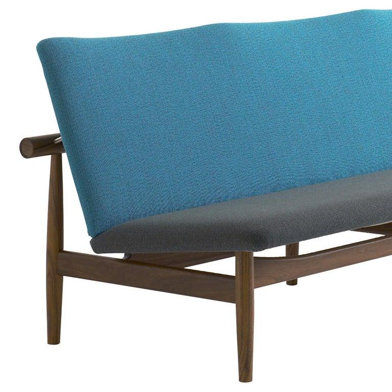 Mid-Century Modern Finn Juhl Japan Series Sofa Walnut, Discontinued Fabric For Sale