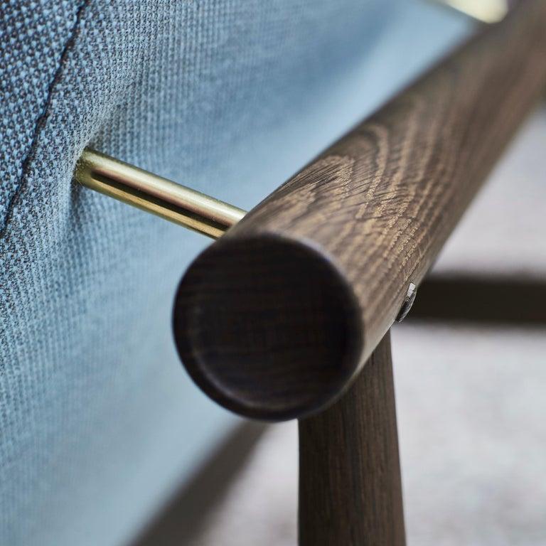 Danish Finn Juhl Japan Series Sofa Walnut, Discontinued Fabric For Sale