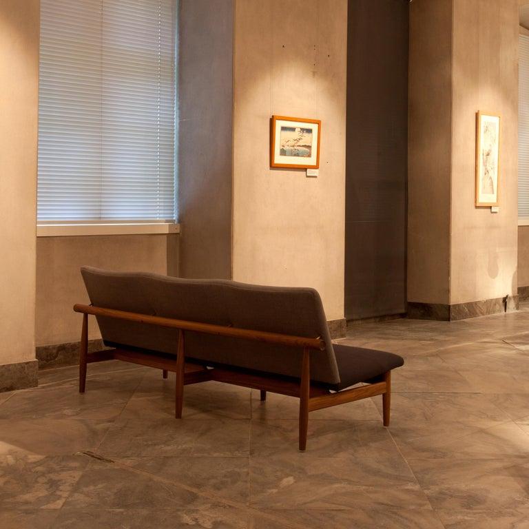 Finn Juhl Japan Series Sofa Walnut, Discontinued Fabric For Sale 3