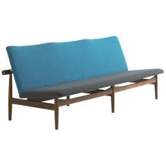 Finn Juhl Japan Series Sofa Walnut, Discontinued Fabric