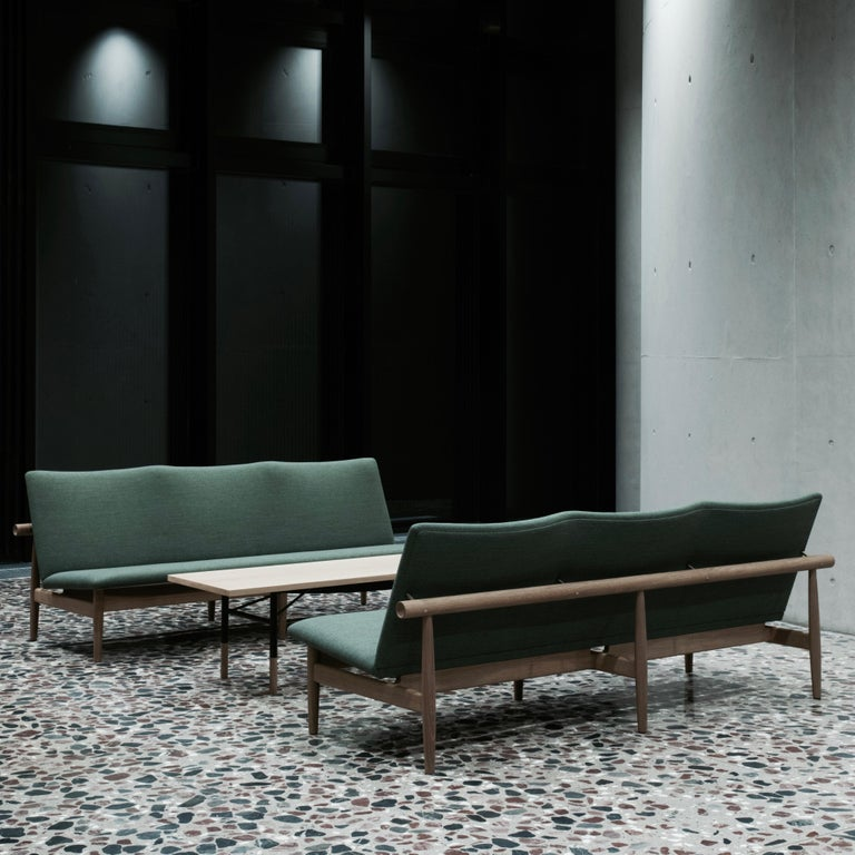 Mid-Century Modern Finn Juhl Japan Series Sofa Walnut, Kvadrat Canvas, 1953 For Sale