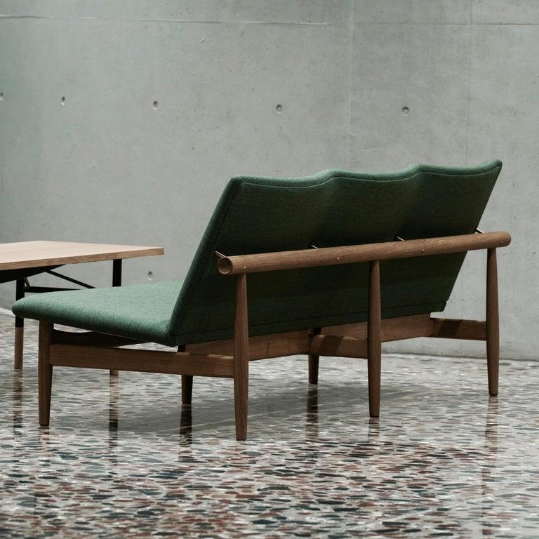 Finn Juhl Japan Series Sofa Walnut, Kvadrat Canvas, 1953 In New Condition For Sale In Barcelona, Barcelona