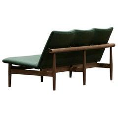 Finn Juhl Japan Series Three Seaters Sofa, Wood and Kvadrat Canvas Fabric