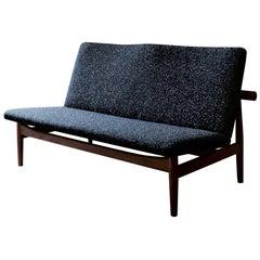 Finn Juhl Japan Series Two-Seaters Sofa, Wood and Raf Simons Fabric