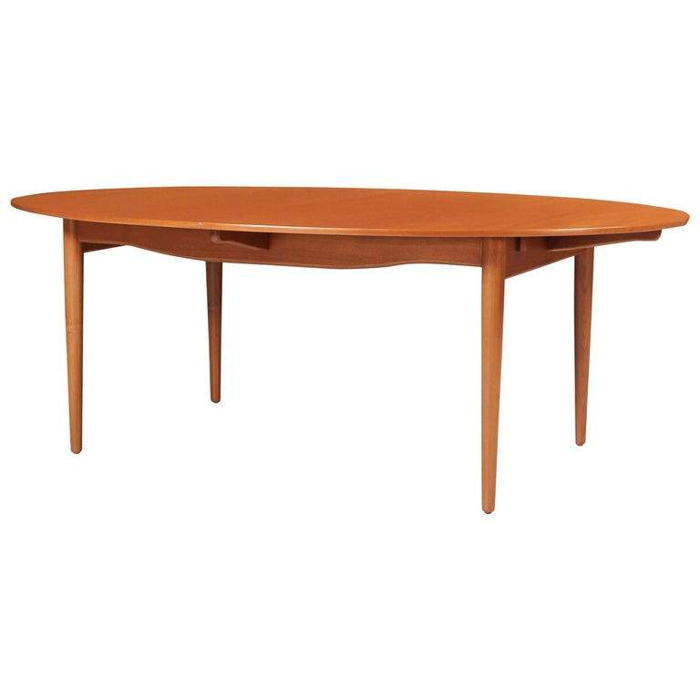 Finn Juhl Judas Teak Dining Table For Baker Furniture Co