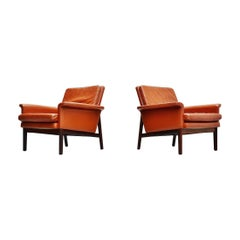 Finn Juhl Jupiter Lounge Chairs France and Son Denmark, 1965