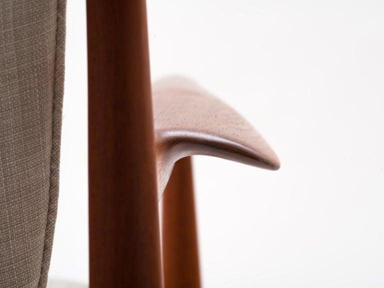 Finn Juhl Lounge Chair Model FD 136 in Teak For Sale 7