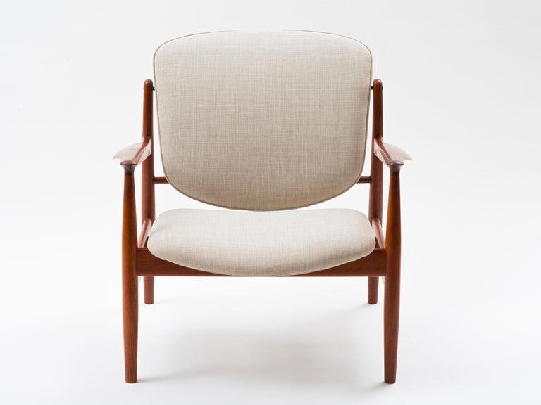 Scandinavian Modern Finn Juhl Lounge Chair Model FD 136 in Teak For Sale